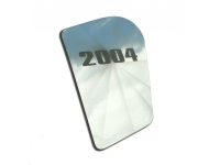 E21493-02 HOOD PANEL-INSERT-UPPER RIGHT-POLISHED-WITH YR 2002 ETCHING-1 PIECE-97-04