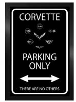 E22808 SIGN-CORVETTE PARKING ONLY-20