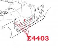E4403 SCREW SET-DOOR SILL PLATE-10 PIECE-61-62