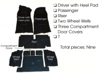 E5928 CARPET SET-COMPLETE-4 SPEED-80-20 LOOP-WITH PAD-70
