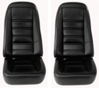 E6974 COVER-SEAT-100% LEATHER-EXCEPT PACE CAR-4 PIECES-76-78