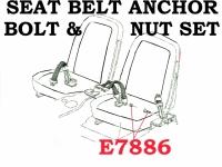 E7886 BOLT SET-SEAT BELT ANCHOR-2 PIECES-65-68