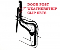 E7995 CLIP SET-DOOR POST WEATHERSTRIP-24 PIECES-L62