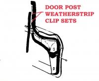 E7993 CLIP SET-DOOR POST WEATHERSTRIP-22 PIECES-59-60