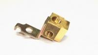 E8801 BLOCK-BRAKE LINE-FRONT-LEFT-STANDARD BRAKES-1/4 INCH-65-66