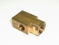 E8802 BLOCK-BRAKE LINE-REAR-LEFT-STANDARD AND POWER BRAKES 3/16 INCH-63-65