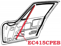 EC415CPEB CHANNEL-DOOR-FRONT WINDOW-CURVED-COUPE-PAIR-63-67