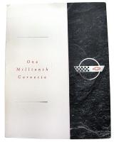 E10687 BROCHURE-ONE MILLIONTH CORVETTE PRESS RELEASE-ORIGINAL N.O.S-1992