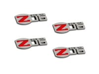 E21649 Badges-Z06 505 HP-Polished-Stainless Steel-4 Pieces-06-13