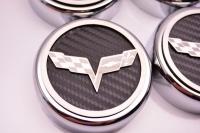 E21716 Cap Set-Engine Fluids-Carbon Fiber-Colors-C6 Crossed Flags-Manual-6 pieces-05-13