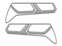 E21802 Bezel Trim Kit-Tail Lights-Polished or Brushed-Stainless Steel-8 pieces-14-17