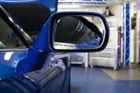 E21814 Trim Rings-Mirror-Side View-Standard-W/ Carbon Fiber Corvette Script-7 colors-Pair-14-17