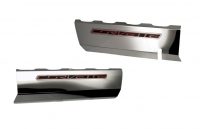 E21865 Cover-Fuel Rail-Polished-Stainless Steel-W/ Brushed Trim-Pair-14-17