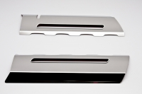 E21894 Cover-Fuel Rail-Factory Overlay-Stainless Steel-LED Illuminated-5 Colors-Pair-14-17