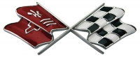 E3159 EMBLEM-FUEL DOOR-CROSS FLAG-USA-69-73