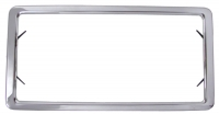 E6347 FRAME-LICENSE PLATE-POLISHED STAINLESS STEEL AS ORIGINAL-FRONT OR REAR-63-72