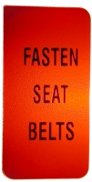 E6409 LENS-FASTEN SEAT BELTS-WARNING-72-76